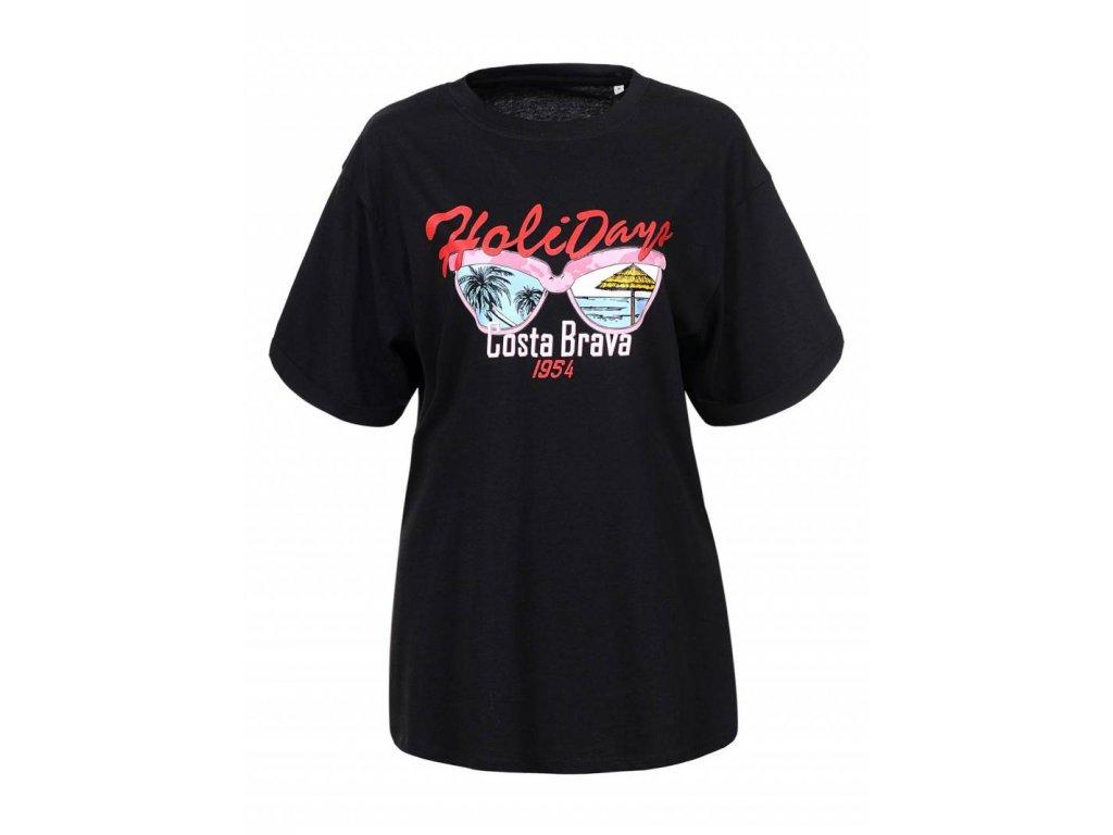 Dámske tričko Holiday (Farba Čierna, Veľkosť XL)