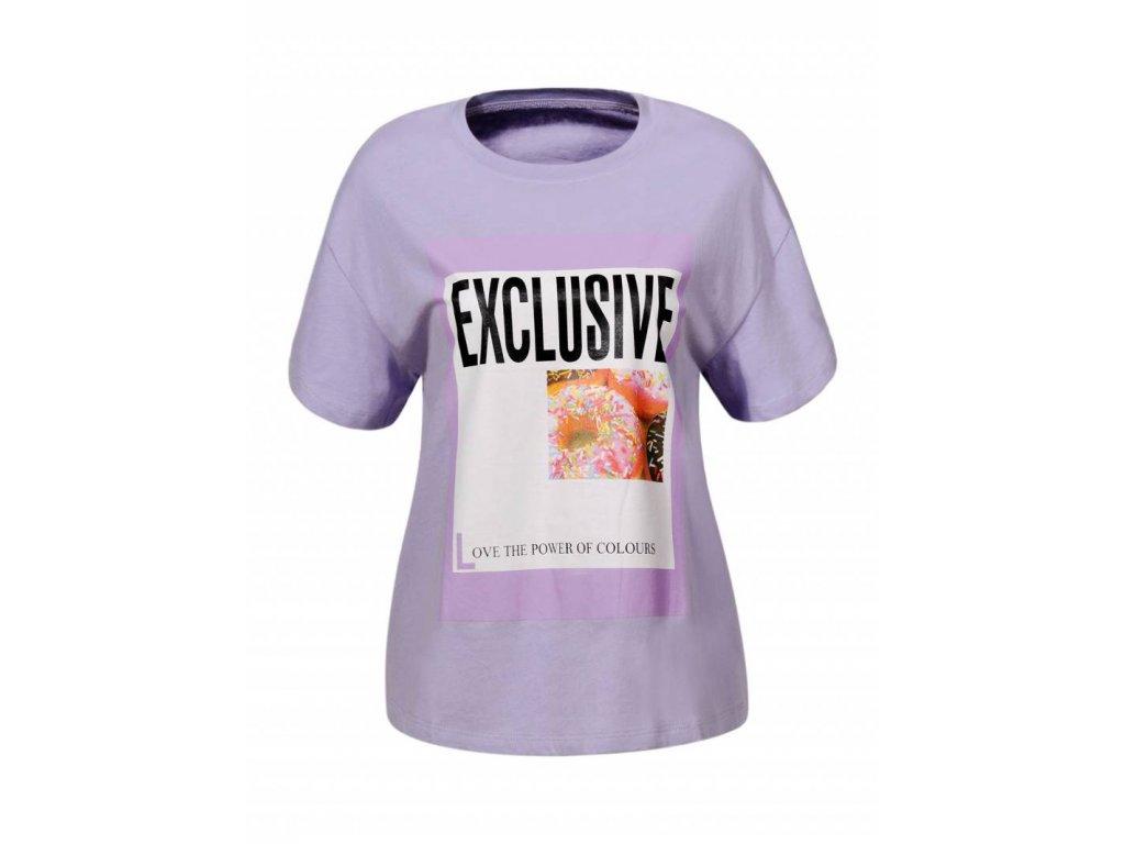 Dámske tričko FIX (Farba Fialová, Veľkosť XL)