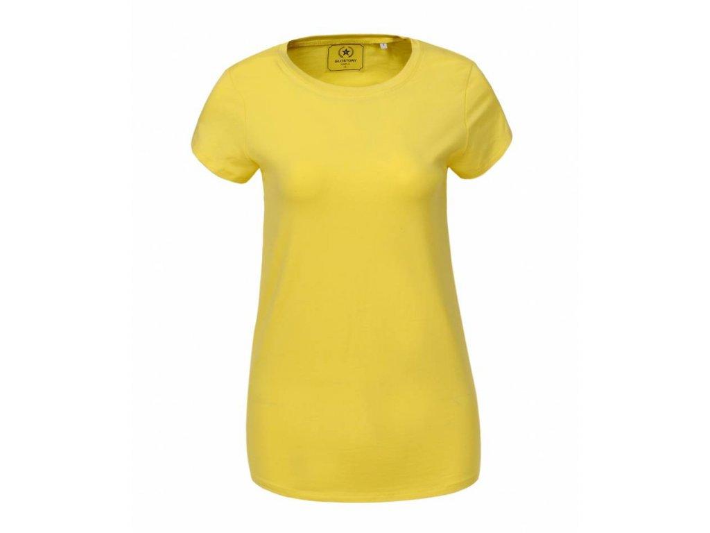 Dámske žlté tričko PLUS SIZE (Farba Žlta, Veľkosť 6XL)