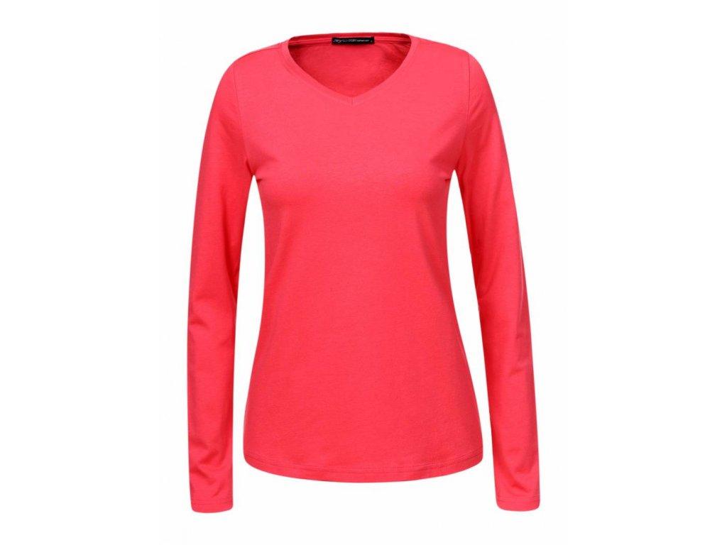Dámske tričko s dlhým rukávom ESEX (Farba Tmavozelená, Veľkosť XL)