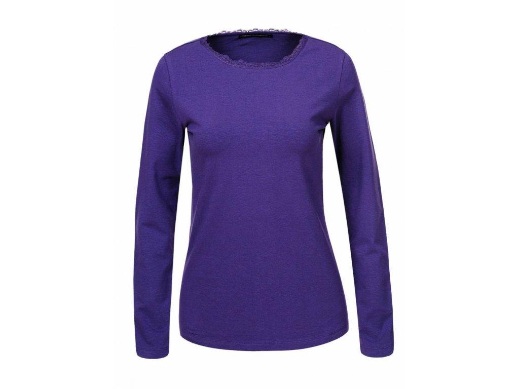 Dámske tričko s dlhým rukávom TRISH (Farba Svetlomodrá, Veľkosť XL)