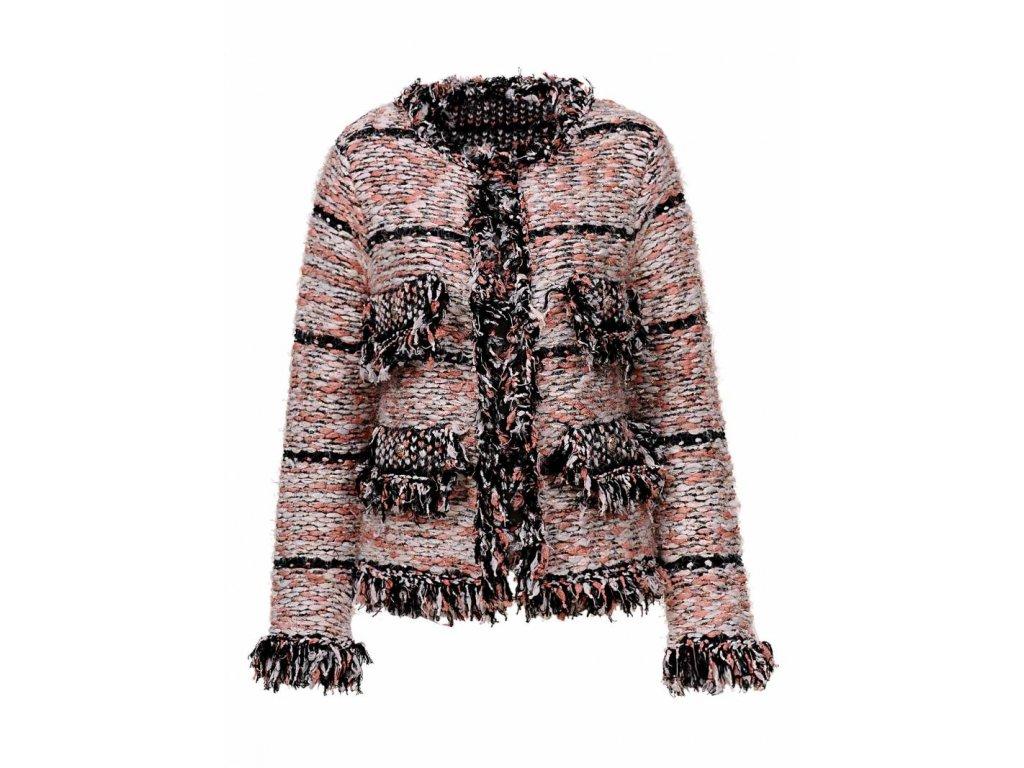 Dámsky pletený sveter EXCELENT (Farba Farebná, Veľkosť XL)