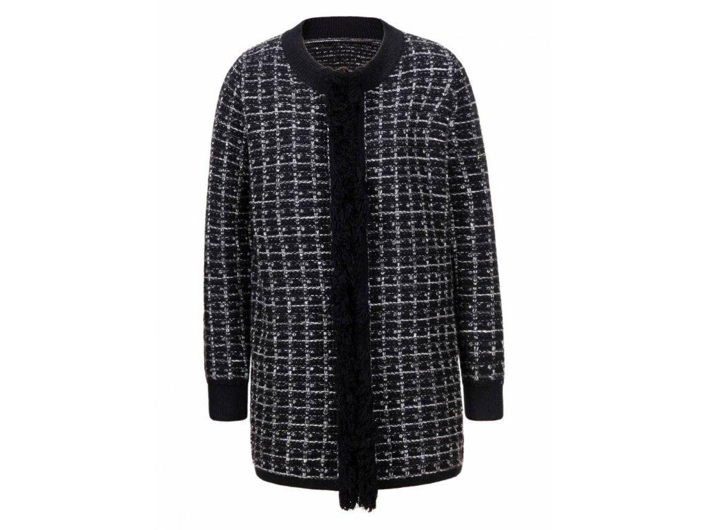 Dámsky čierný pletený sveter (Farba Čierna, Veľkosť XL)