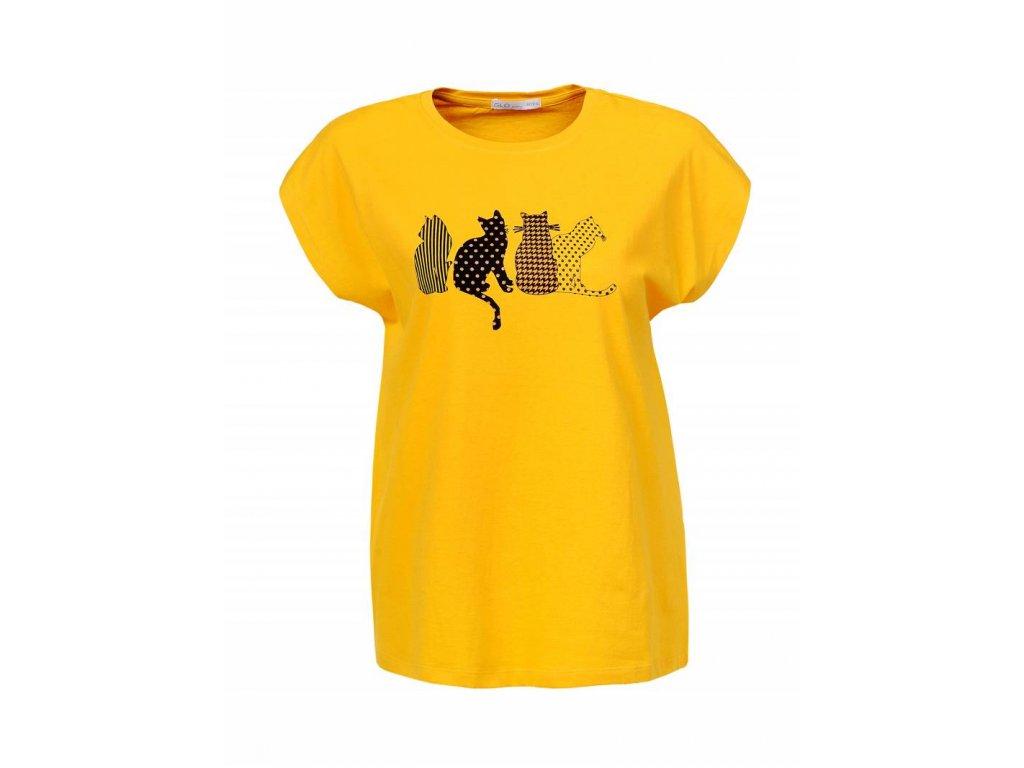 Dámske tričko KITY (Farba Žlta, Veľkosť S)