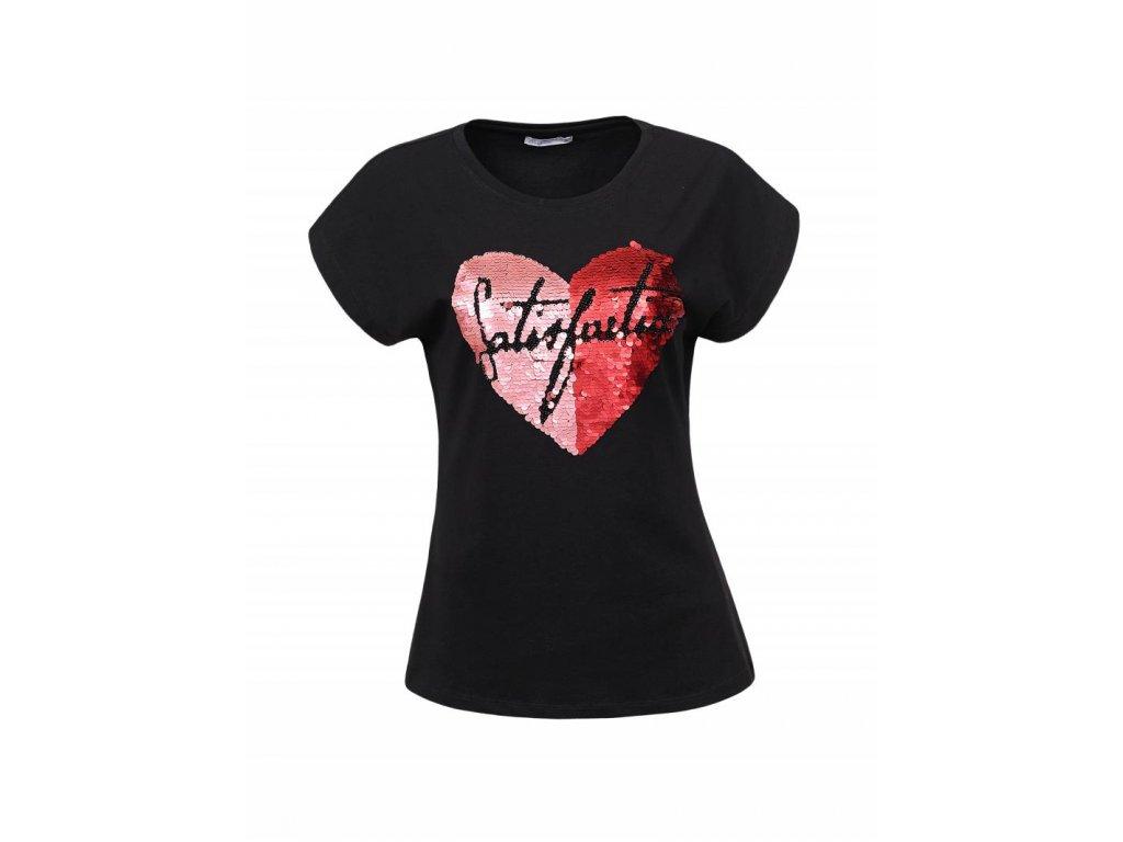 Dámske tričko SATISFACTION (Farba Čierna, Veľkosť XL)
