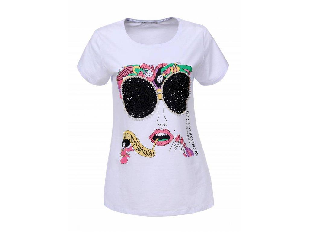 Dámske tričko ELFSACK (Farba Biela, Veľkosť S)