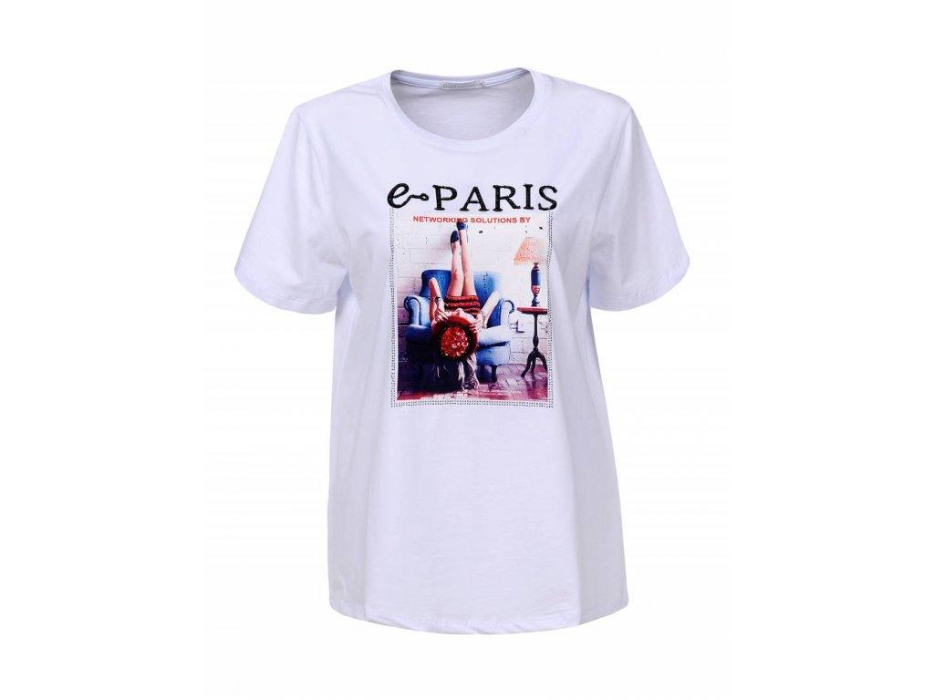 Dámske tričko e paris (Farba Biela, Veľkosť S)