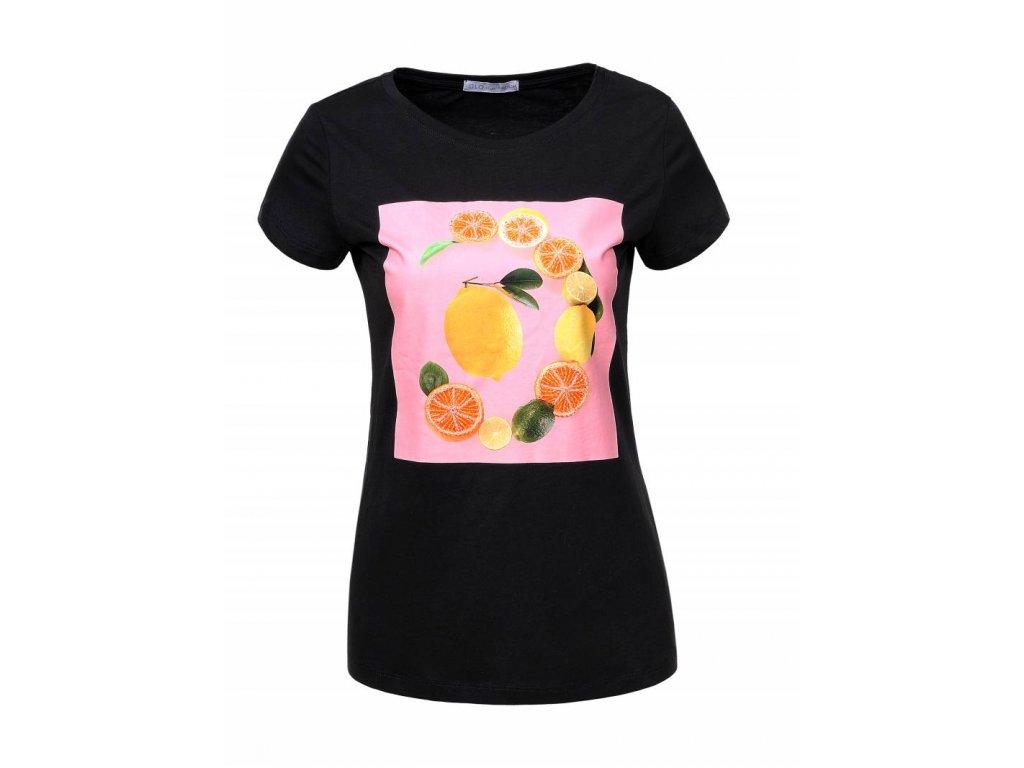 Dámske tričko FRUITS (Farba Žlta, Veľkosť S)