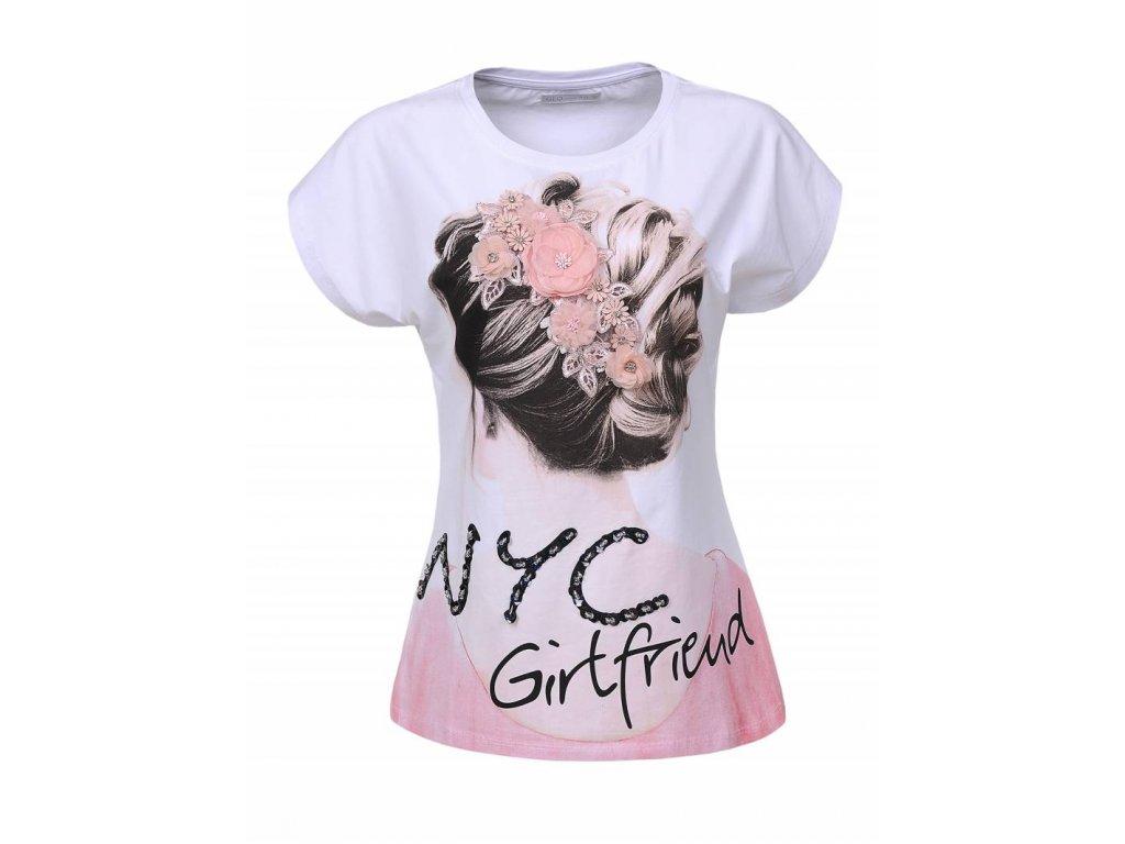 Dámske tričko NYC GILFRIEND (Farba Biela, Veľkosť S)