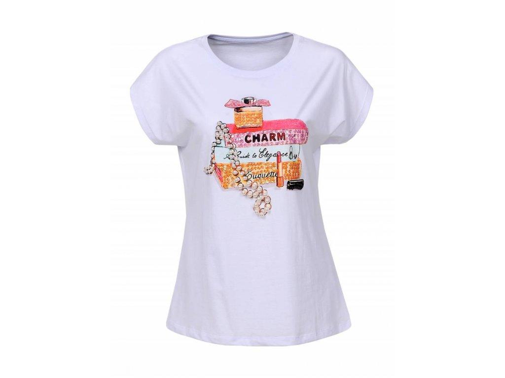 Dámske tričko CHARM (Farba Biela, Veľkosť S)