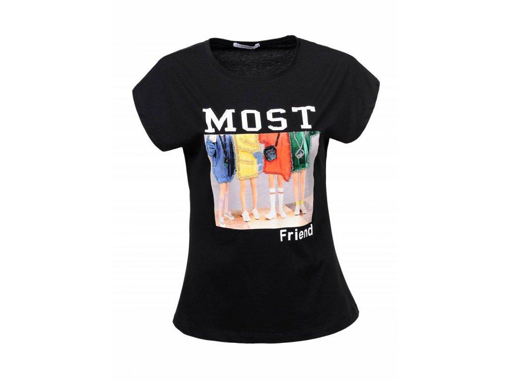 Dámske tričko MOST (Farba Čierna, Veľkosť XL)