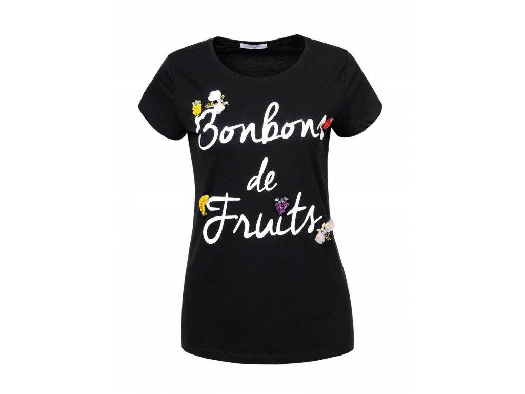 Dámske tričko BONBON (Farba Čierna, Veľkosť XL)