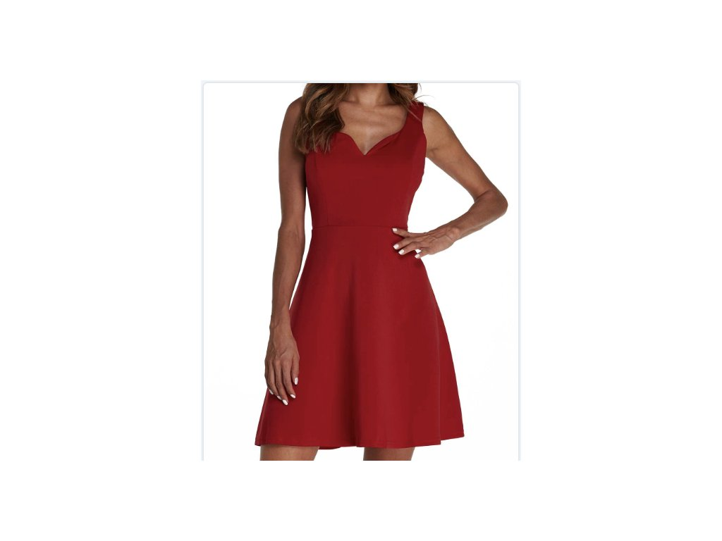 Dámské červené šaty CONCERT (Farba Červená, Veľkosť XL)