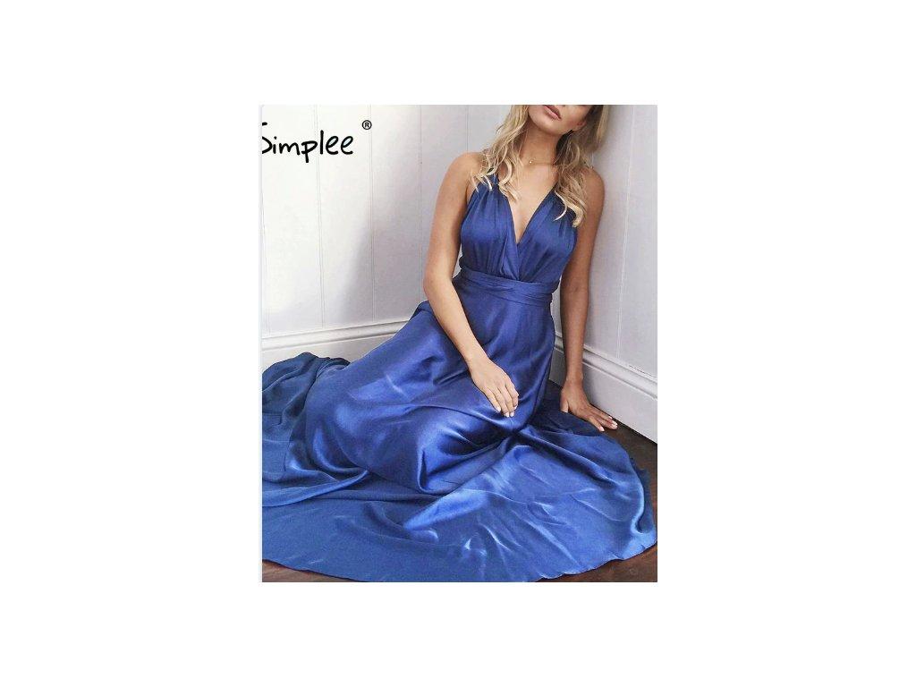 Dámske šaty MON (Farba Modrá, Veľkosť 2XL)