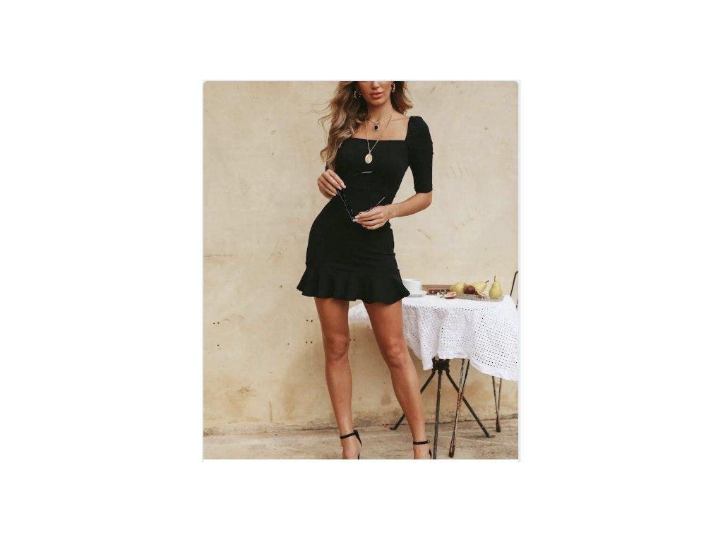 Dámske šaty A1 (Farba Čierna, Veľkosť XL)