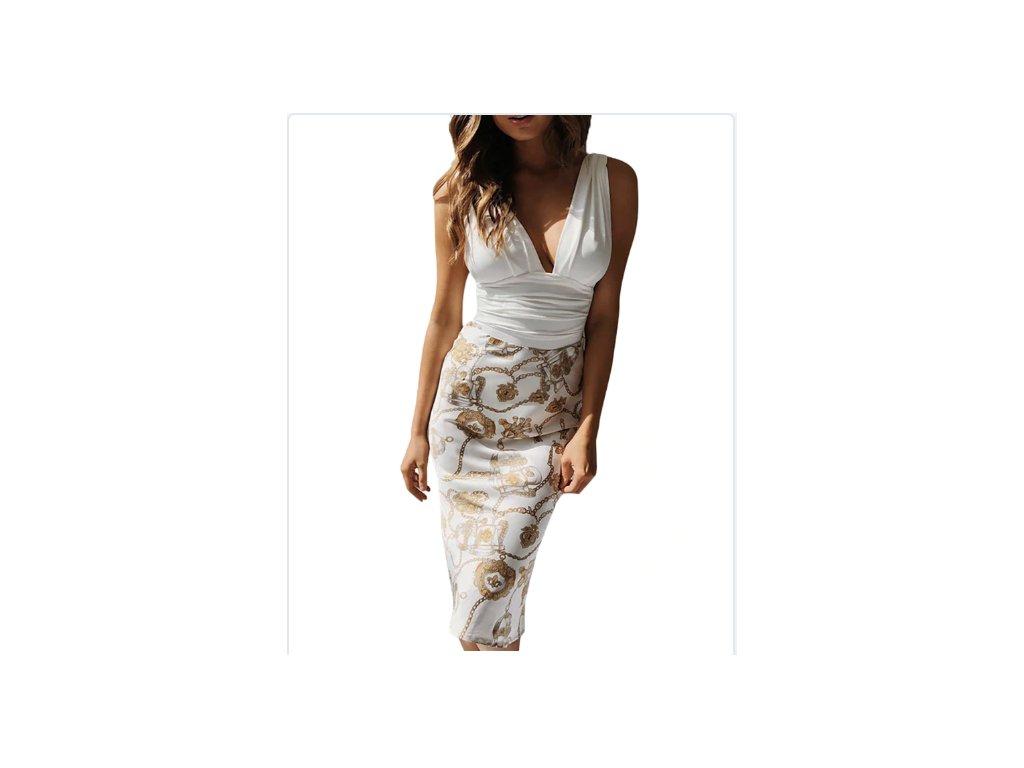 Dámske šaty A2 (Farba Béžová, Veľkosť XL)