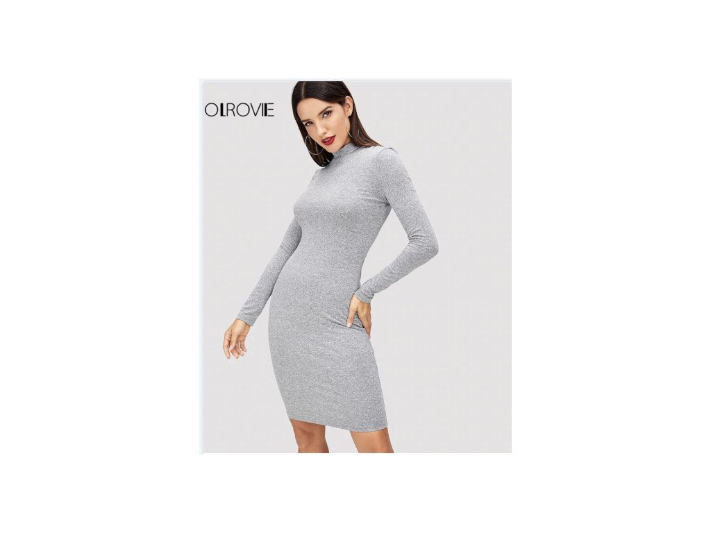 Dámske šaty AVON (Farba Sivá, Veľkosť XL)