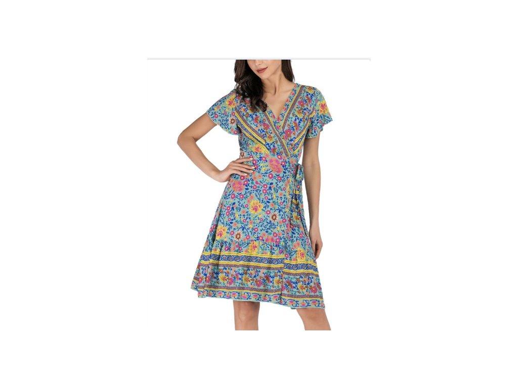 Dámske šaty VESNA (Farba Farebná, Veľkosť XL)