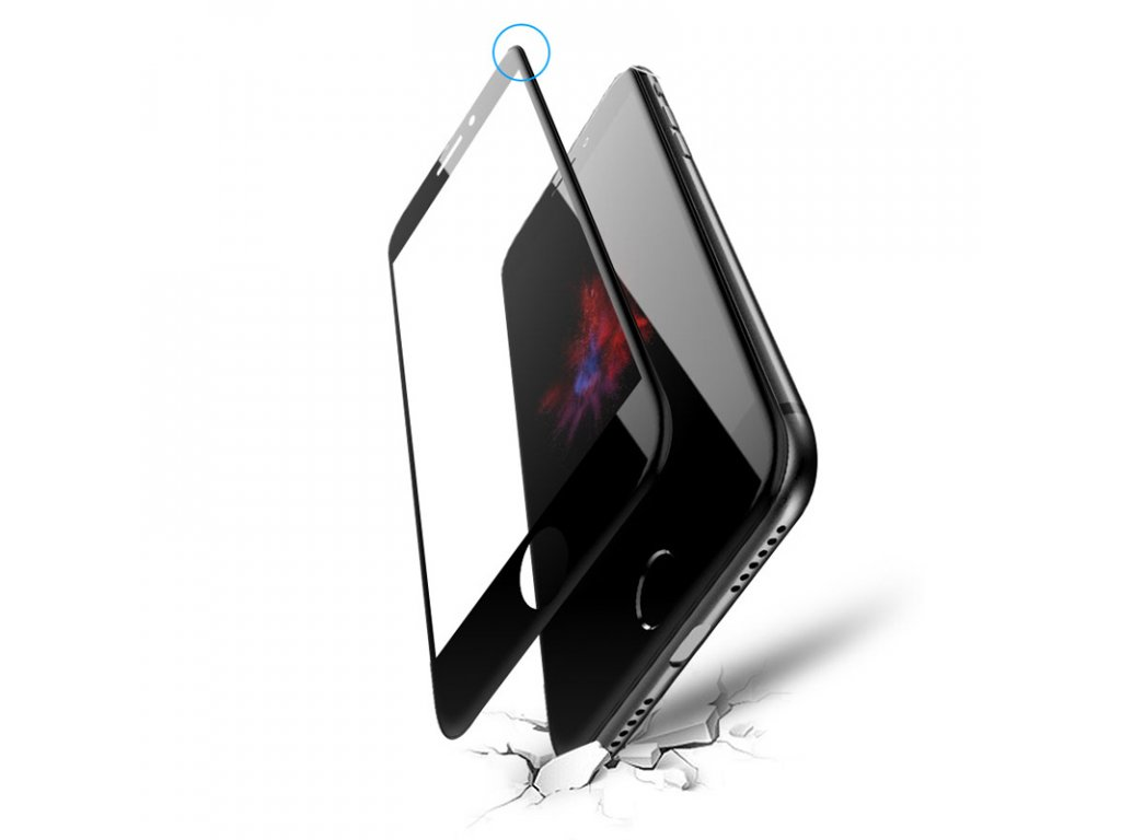 1025 5d tvrdene sklo pre iphone iphone 6 farba cierna