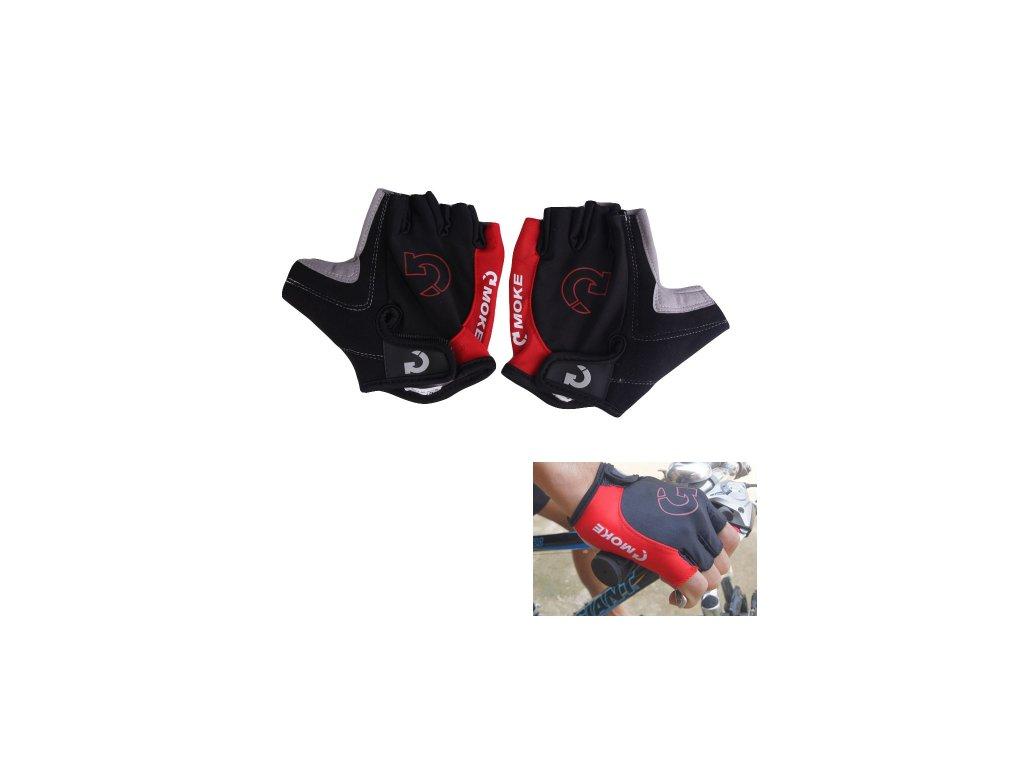 1274 cyklisticke rukavice farba cervena velkost s