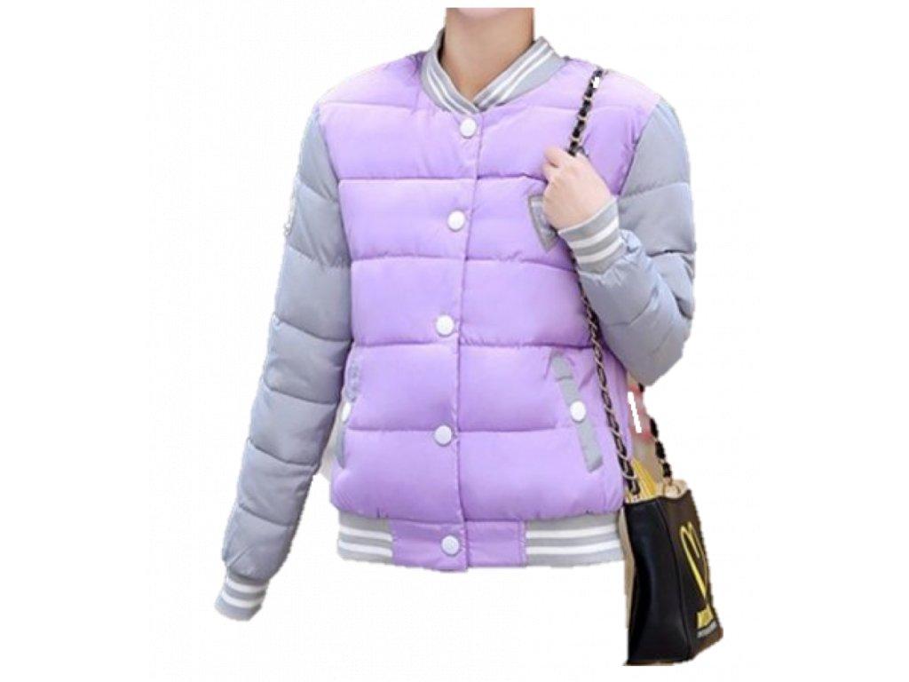 Dámska bunda v štýle uniformy (Farba Ružová, Veľkosť XS)
