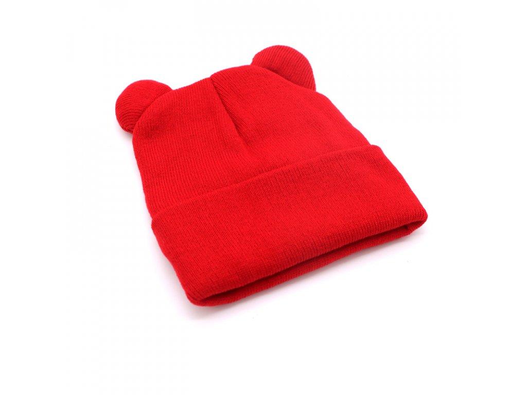 1337 damska ciapka s uskami farba cervena