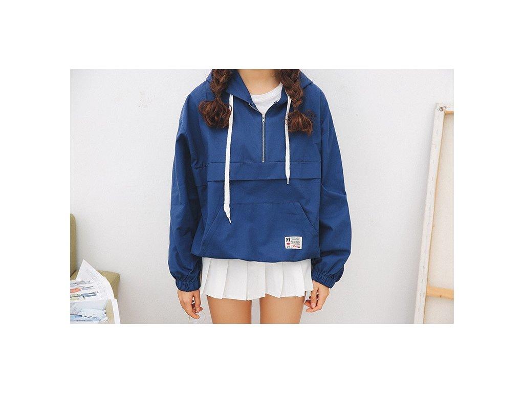 Dámska jarná bunda v japonskom štýle (Farba Modrá, Veľkosť UNI)
