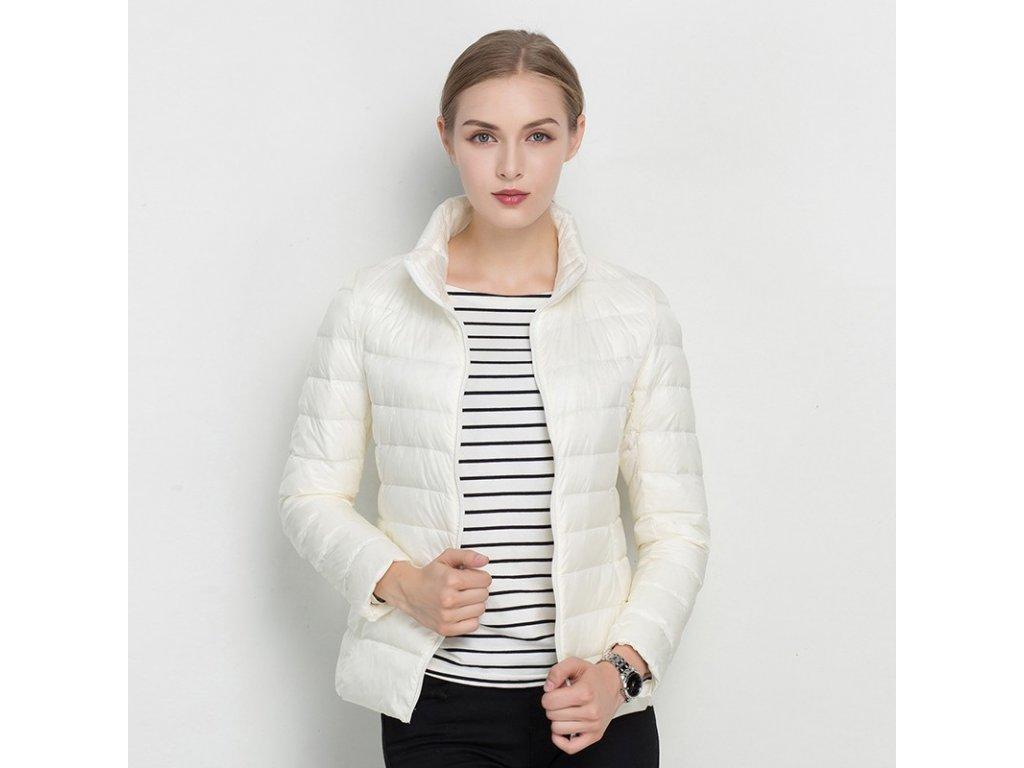 1400 damska jarna jesenna bunda 18 farieb farba biela velkost xs