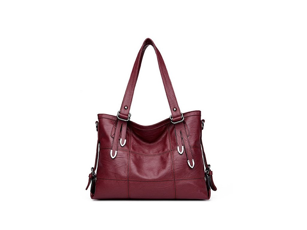 1466 damska kozena taska na rameno farba cervena