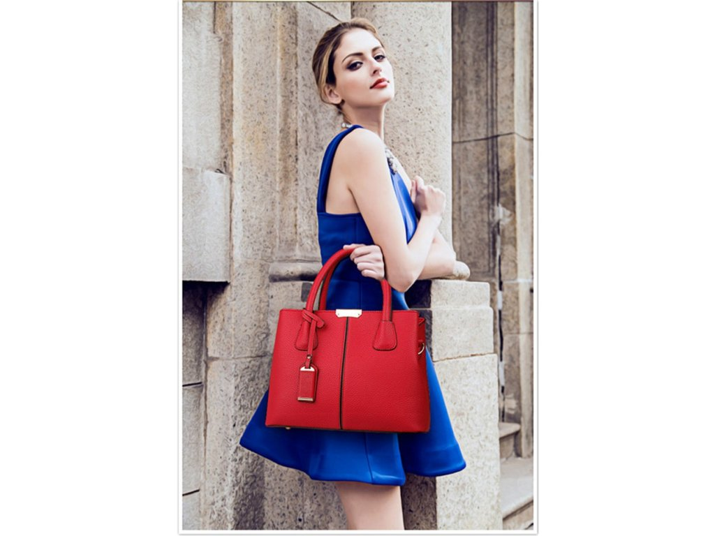 1496 damska modna kabelka cervena
