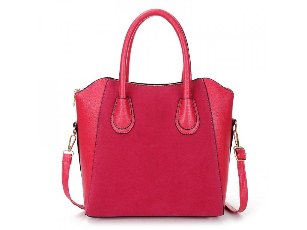 1508 damska modna kabelka z umelej koze 3 farby farba cervena