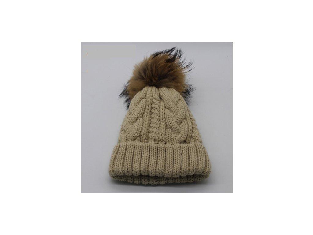 1562 damska pletena zimna ciapka s brmbolcom 10 farieb varianta 1