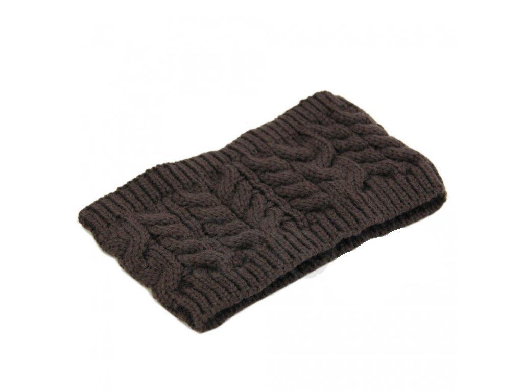 1703 damska zimna ciapka pletena vo viacerych farbach farba kavova
