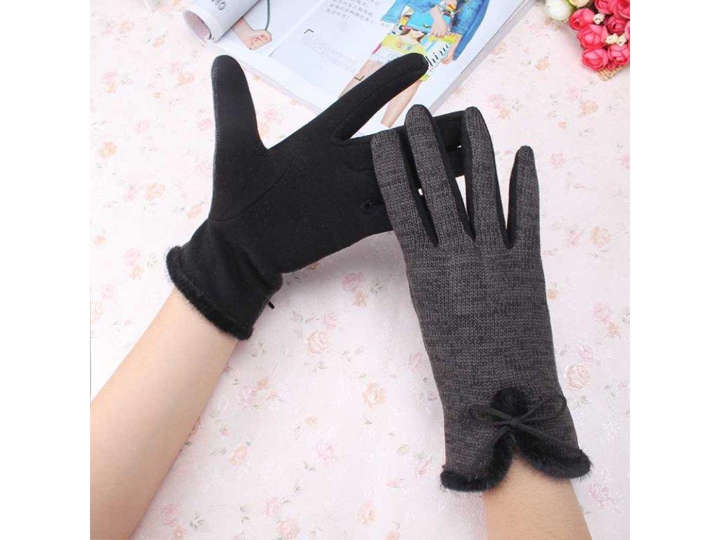 1835 damske elegantne zimne rukavice 3 farby farba cierna