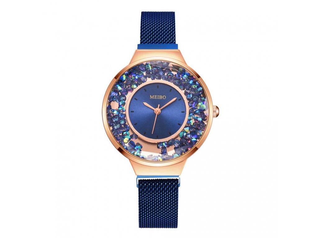 6 New Brand Magnetic Women Watch Fashion Mobile Rhinestone Elegant Magnet Buckle Rose Gold Ladies Wristwatch Luxury