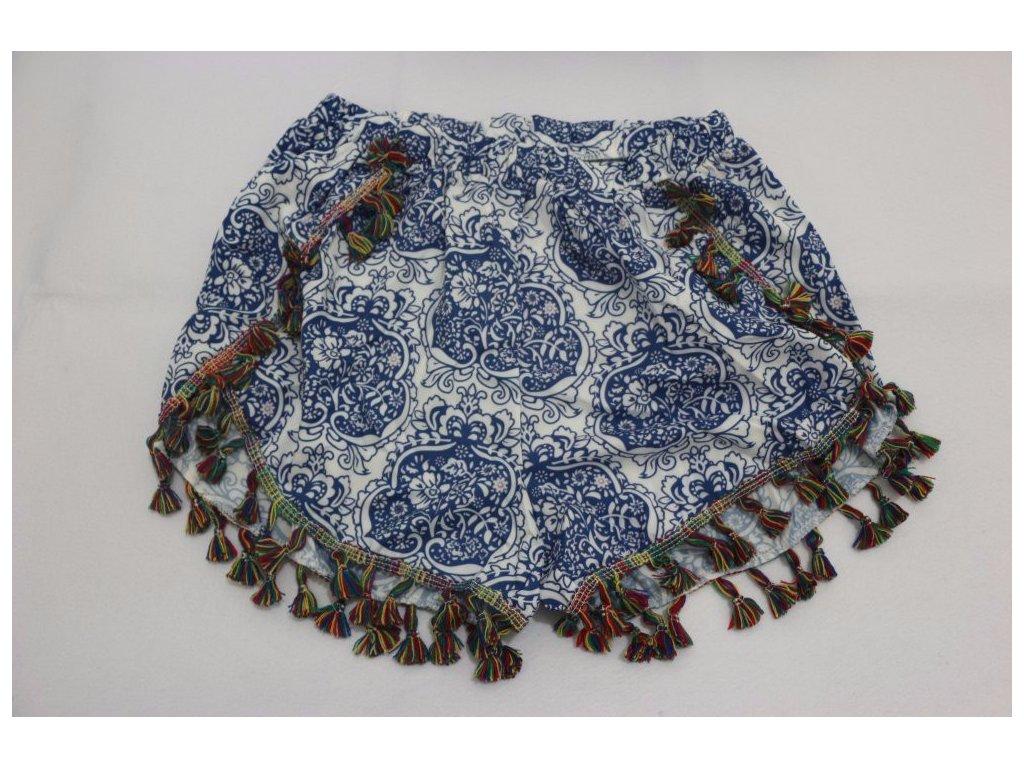 1964 damske letne sortky so strapcami modre velkost l