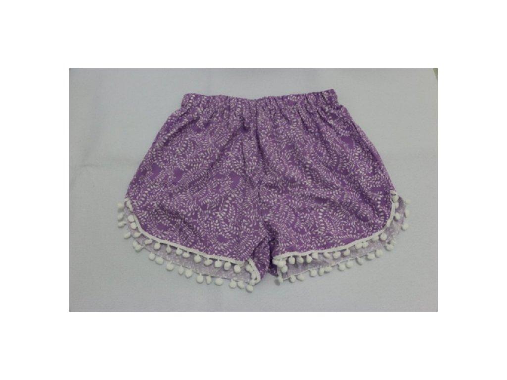1976 damske letne sortky so zaujimavym vzorom fialove velkost l