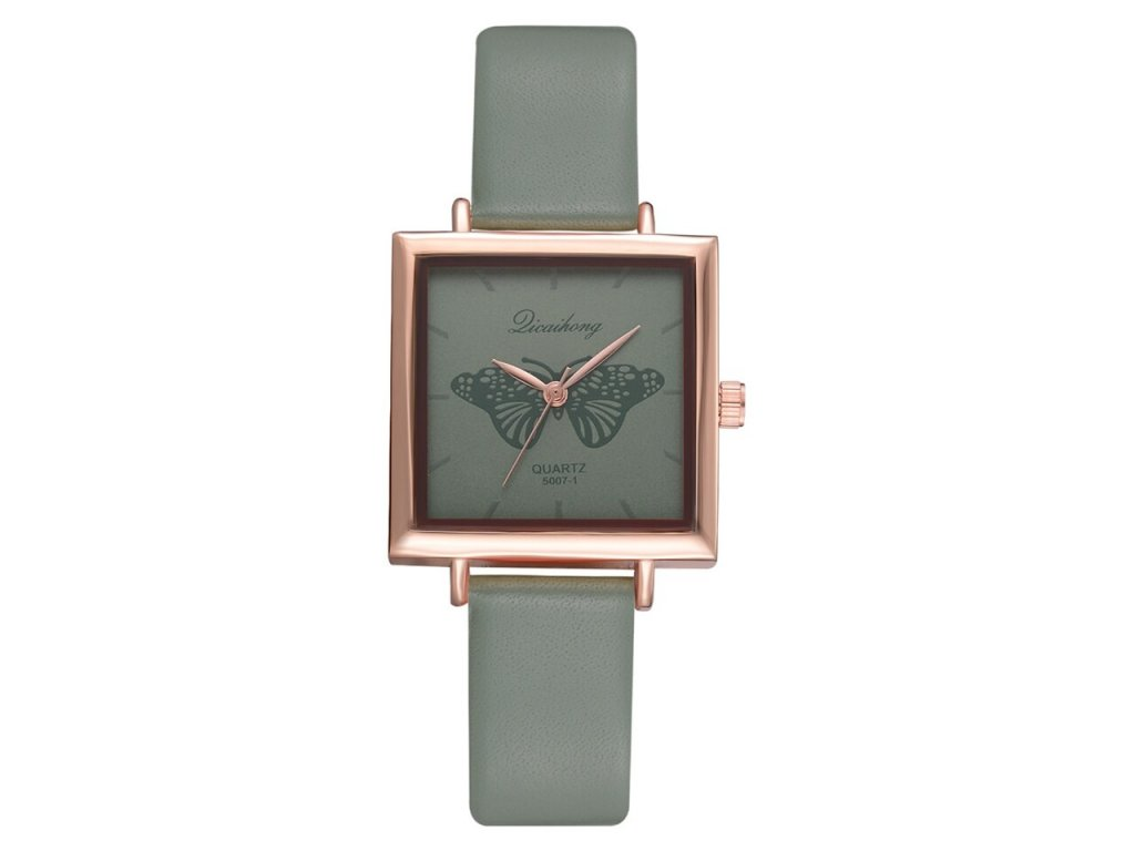 8 Dropshiping New Top Brand Square Women Bracelet Watch Contracted Leather Crystal WristWatches Women Dress Ladies Quartz