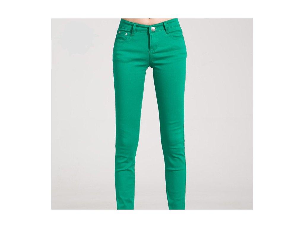 2177 damske stylove dzinsy zelene velkost 26