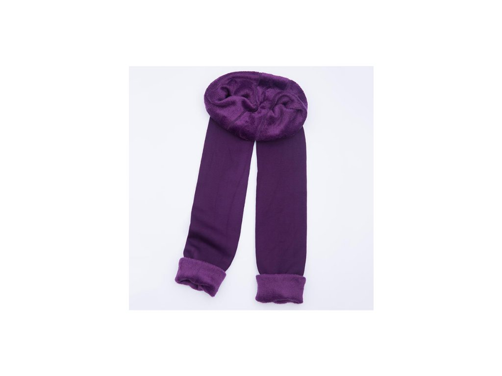 2444 damske zimne elasticke leginy fialove velkost l