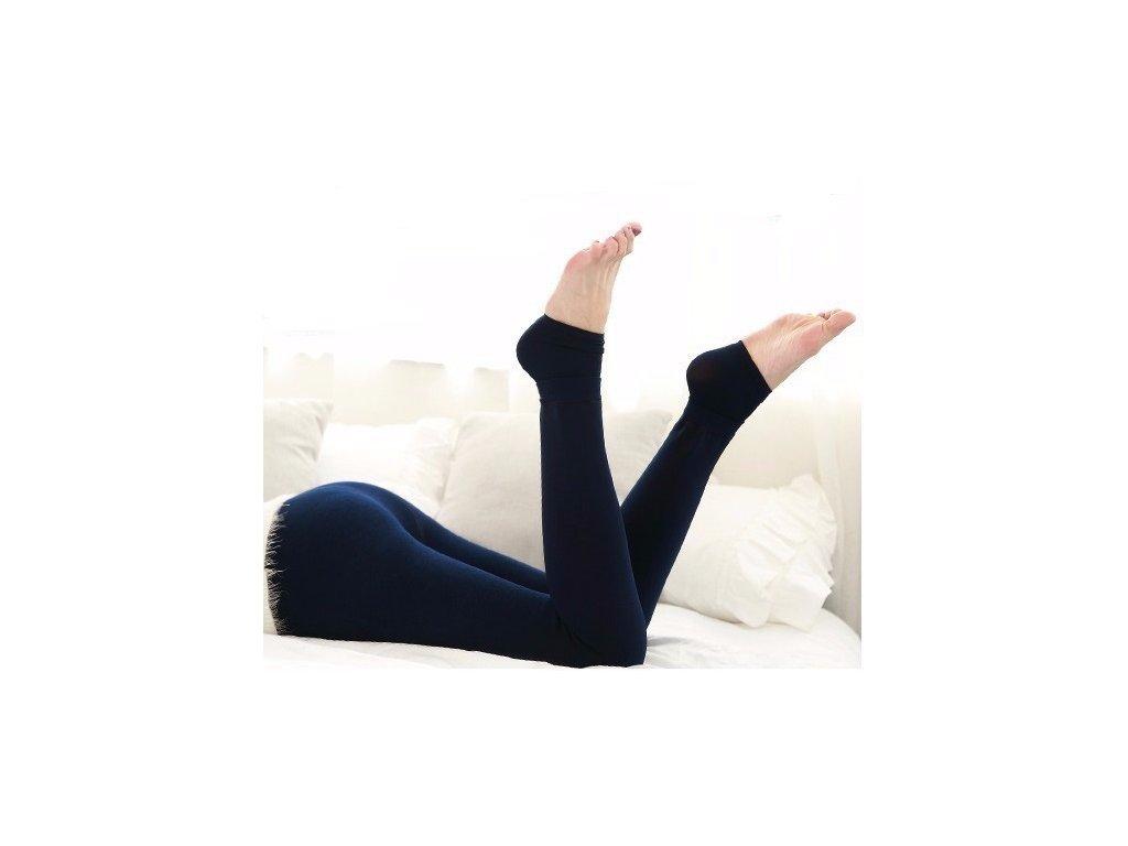 2450 damske zimne elasticke leginy modre velkost l