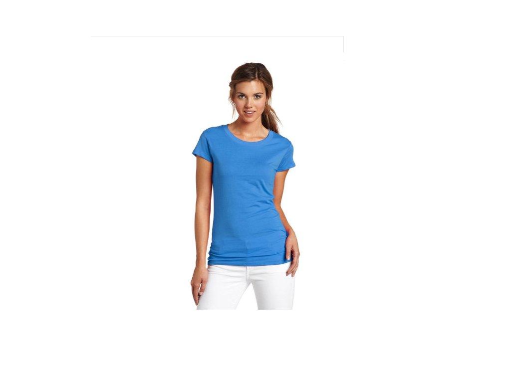 2528 damsky modny top modry velkost l