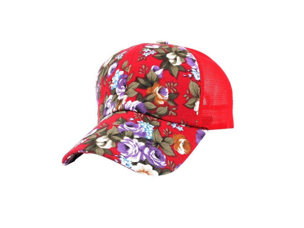 2621 damska siltovka s kvetinovym vzorom farba cervena