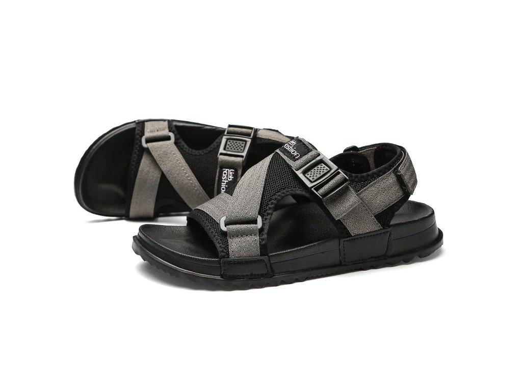 22907 panske sandale 2 farby farba seda velkost 38