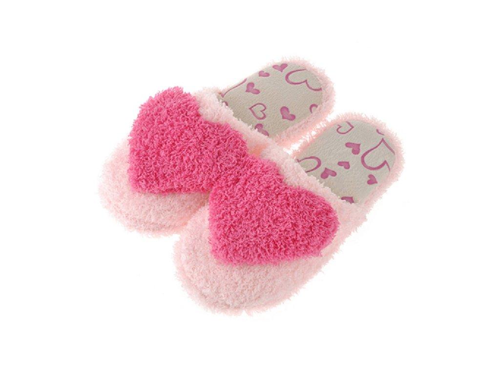23678 damske domace papuce so srdieckom farba ruzova velkost 38
