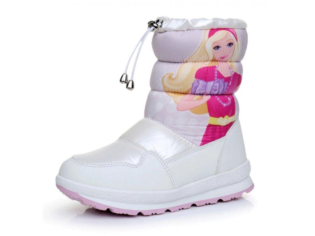 29456 dievcenske zimne topanky s princeznou farba biela velkost 23