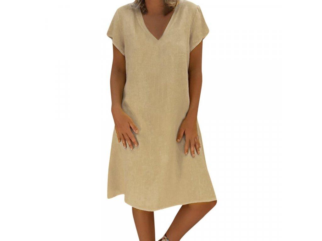Bavlnené letné šaty (Farba Žlta, Veľkosť XS)