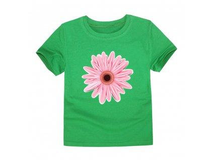 8222 dievcenske tricko s potlacou kvetiny 12 farieb farba tmavo zelena velkost 10