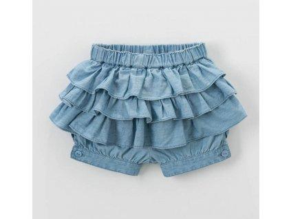9575 dievcenske suknove sortky bella modre velkost 2