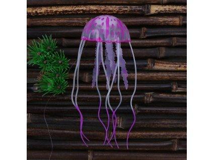 10415 silikonova meduza do akvaria 6 farieb farba fialova